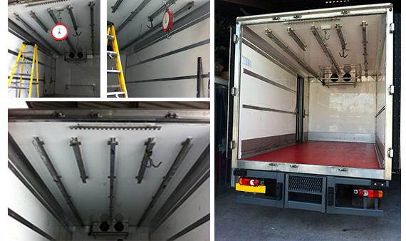 7.5 ton Truck Meat rail Conversions